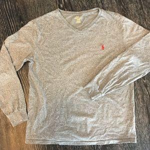 Polo Long Sleeve T-Shirt - Grey - Medium